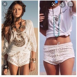 Spell and the Gypsy Fleetwood Dove lace shorts